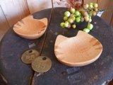 ねこ・木の豆皿(とら)
